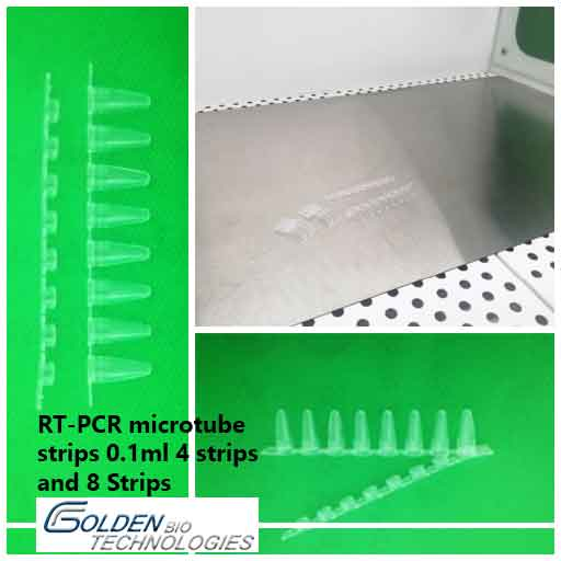 RT-PCR microtube strips 0.1ml 4 strips and 8 Strips